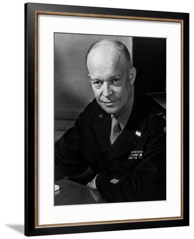 General Dwight Eisenhower--Framed Art Print