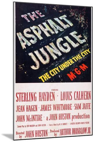 The Asphalt Jungle--Mounted Art Print