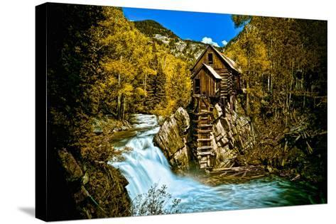 Crystal Mill Is an Old Ghost Town High Up in the Hills of the Maroon Bells, Colorado-Brad Beck-Stretched Canvas Print