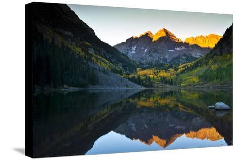 Gorgeous Fall Sunrise at Maroon Bells, Aspen, Colorado-Brad Beck-Stretched Canvas Print