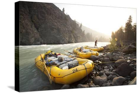 Whitewater Rafting on the Chilko River. British Columbia, Canada-Justin Bailie-Stretched Canvas Print