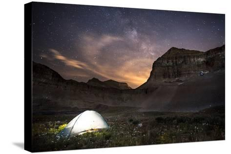 Backcountry Camp under the Stars-Lindsay Daniels-Stretched Canvas Print
