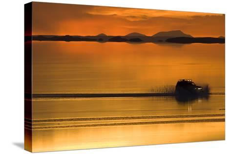 The Salar De Uyuni, a Flooded Salt Flat, in Bolivia-Sergio Ballivian-Stretched Canvas Print