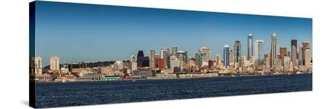 Panoramic View of Seattle, Washington, USA-Brian Jannsen-Stretched Canvas Print