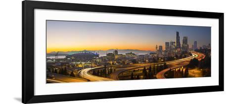USA, Washington. Seattle Skyline Near the 12th Street Bridge-Gary Luhm-Framed Art Print