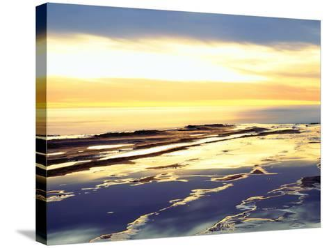 USA, California, San Diego. Sunset Cliffs Tide Pools at Sunset-Jaynes Gallery-Stretched Canvas Print