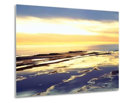 USA, California, San Diego. Sunset Cliffs Tide Pools at Sunset-Jaynes Gallery-Metal Print