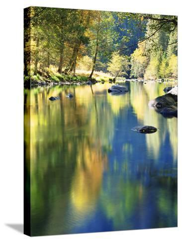 USA, California, Yosemite Autumn Reflection in the Merced River-Jaynes Gallery-Stretched Canvas Print