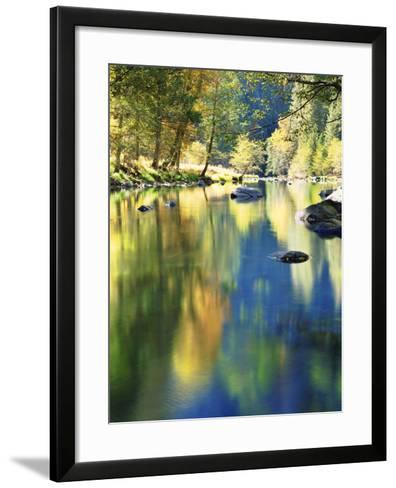 USA, California, Yosemite Autumn Reflection in the Merced River-Jaynes Gallery-Framed Art Print