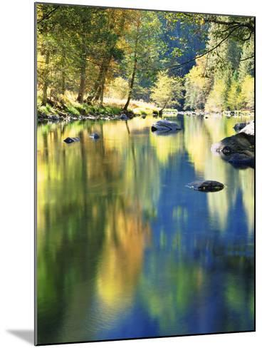 USA, California, Yosemite Autumn Reflection in the Merced River-Jaynes Gallery-Mounted Photographic Print