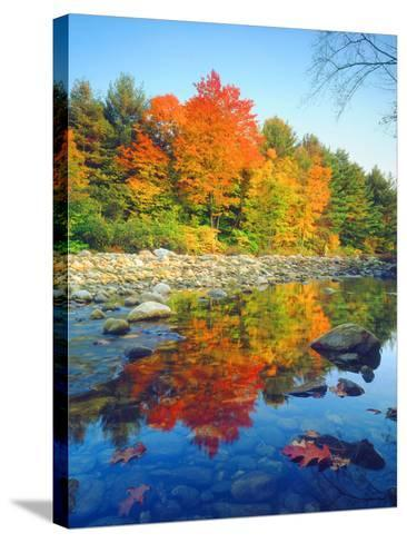 USA, Vermont, Autumn Colors Reflecting in a Stream in Vermont-Jaynes Gallery-Stretched Canvas Print