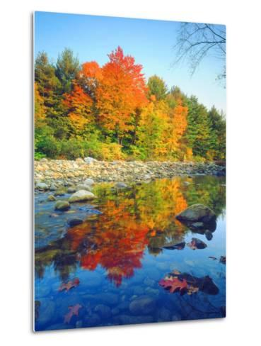 USA, Vermont, Autumn Colors Reflecting in a Stream in Vermont-Jaynes Gallery-Metal Print