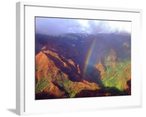 USA, Hawaii, Kauai. a Rainbow over Waimea Canyon-Jaynes Gallery-Framed Art Print