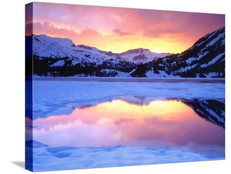 USA, California, Ellery Lake at Sunset-Jaynes Gallery-Stretched Canvas Print
