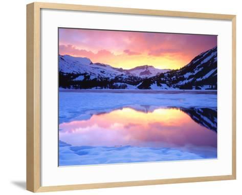 USA, California, Ellery Lake at Sunset-Jaynes Gallery-Framed Art Print