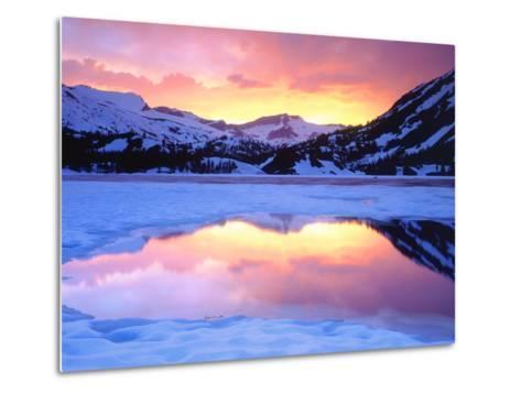 USA, California, Ellery Lake at Sunset-Jaynes Gallery-Metal Print