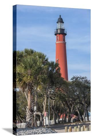 USA, Florida, Ponce Inlet, Ponce De Leon Inlet Lighthouse-Lisa S^ Engelbrecht-Stretched Canvas Print