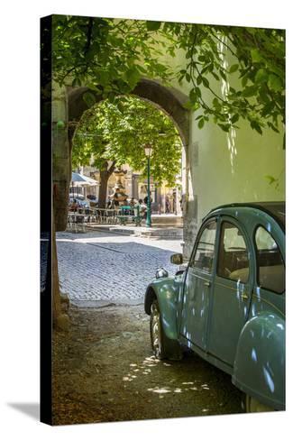 Les Deux Chevaux. Place Favier, Saint Remy De-Provence, France-Brian Jannsen-Stretched Canvas Print