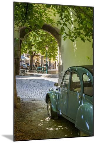 Les Deux Chevaux. Place Favier, Saint Remy De-Provence, France-Brian Jannsen-Mounted Photographic Print