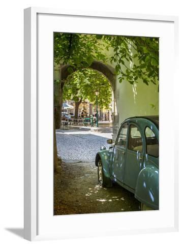 Les Deux Chevaux. Place Favier, Saint Remy De-Provence, France-Brian Jannsen-Framed Art Print
