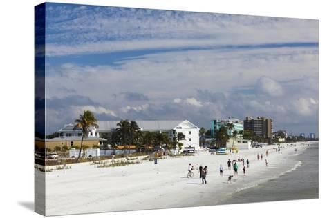 USA, Florida, Gulf Coast, Fort Myers Beach, Elevated Beach View-Walter Bibikow-Stretched Canvas Print