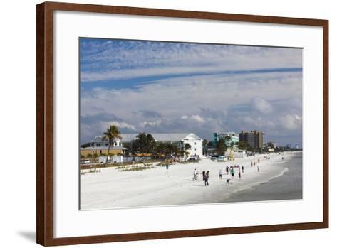 USA, Florida, Gulf Coast, Fort Myers Beach, Elevated Beach View-Walter Bibikow-Framed Art Print
