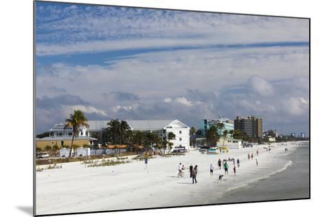USA, Florida, Gulf Coast, Fort Myers Beach, Elevated Beach View-Walter Bibikow-Mounted Photographic Print