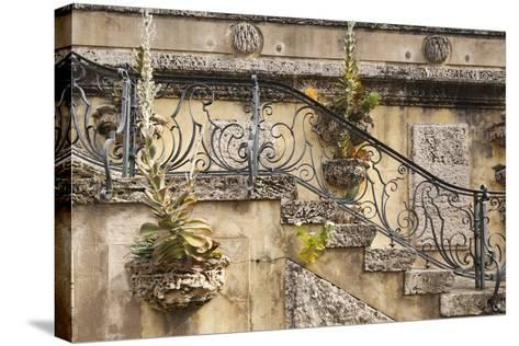 USA, Florida, Miami, Coconut Grove, Vizcaya Museum and Gardens-Walter Bibikow-Stretched Canvas Print