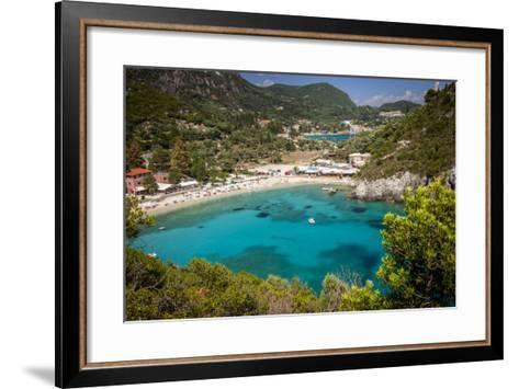Vacation Resort of Paleokastritsa on the Ionian Island, Corfu, Greece-Brian Jannsen-Framed Art Print
