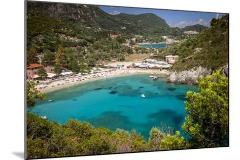 Vacation Resort of Paleokastritsa on the Ionian Island, Corfu, Greece-Brian Jannsen-Mounted Photographic Print