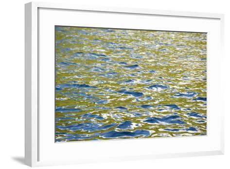 Caribbean, British Virgin Islands, Peter Island. Water Patterns-Kevin Oke-Framed Art Print