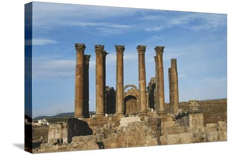 Jordan, Jerash, Temple of Artemis-Claudia Adams-Stretched Canvas Print