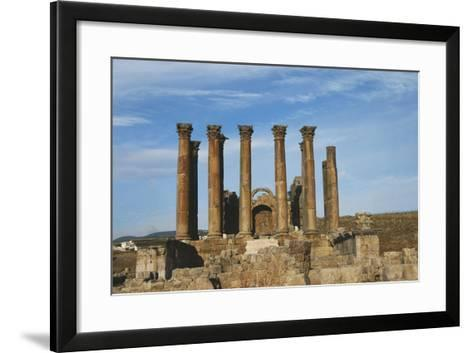 Jordan, Jerash, Temple of Artemis-Claudia Adams-Framed Art Print