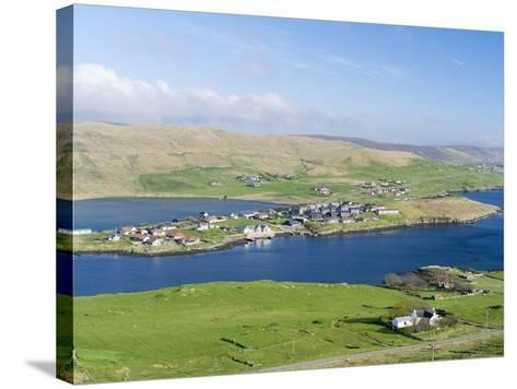 Hellister on the Shore of Weisdale Voe, Shetland Mainland, Scotland-Martin Zwick-Stretched Canvas Print