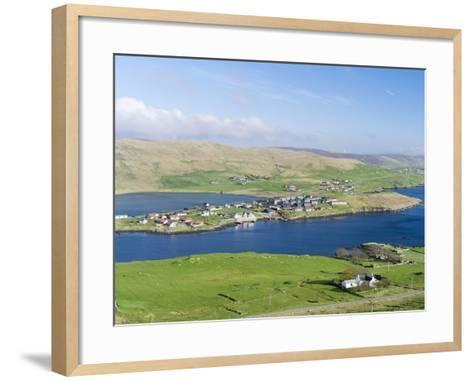 Hellister on the Shore of Weisdale Voe, Shetland Mainland, Scotland-Martin Zwick-Framed Art Print