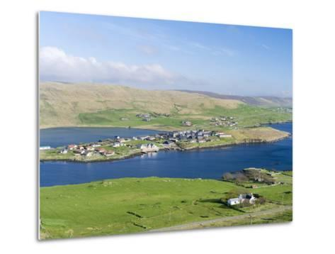 Hellister on the Shore of Weisdale Voe, Shetland Mainland, Scotland-Martin Zwick-Metal Print