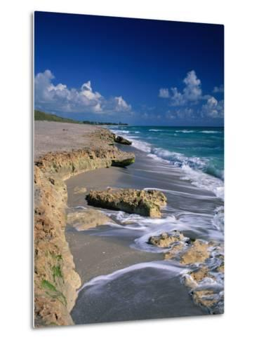 Beach on Jupiter Island-James Randklev-Metal Print