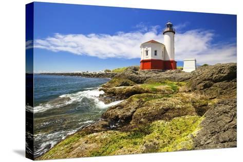 Afternoon Light on Coquille River Lighthouse, Bandon, Oregon Coast, Pacific Ocean-Craig Tuttle-Stretched Canvas Print