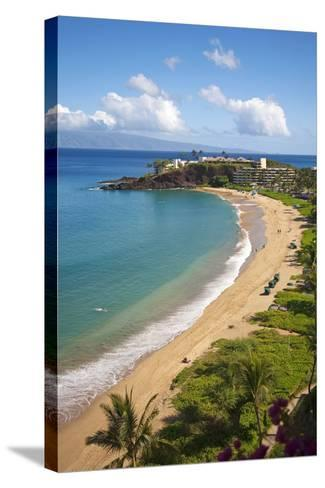 Sheraton Maui Resort and Spa, Kaanapali Beach, Famous Black Rock known for it's Snorkeling-Ron Dahlquist-Stretched Canvas Print