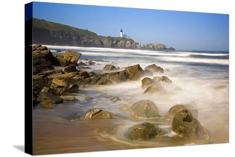 Yaquina Head Lighthouse-Craig Tuttle-Stretched Canvas Print