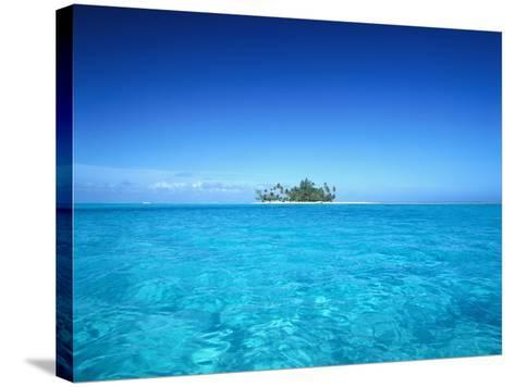 Sparkling Ocean and Tropical Island-Craig Tuttle-Stretched Canvas Print