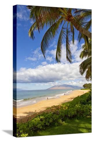 Keawakapu Beach, Wailea on Island of Maui, Hawaii-Ron Dahlquist-Stretched Canvas Print
