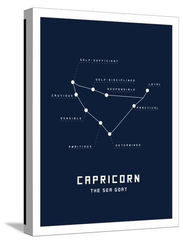 Astrology Chart Capricorn--Stretched Canvas Print