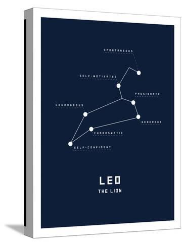 Astrology Chart Leo--Stretched Canvas Print