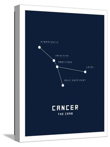 Astrology Chart Cancer--Stretched Canvas Print