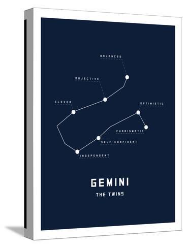 Astrology Chart Gemini--Stretched Canvas Print