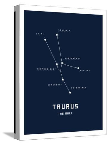 Astrology Chart Taurus--Stretched Canvas Print