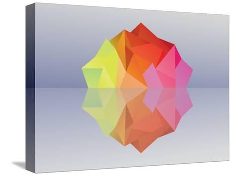 Kaleidoscope Iceberg--Stretched Canvas Print