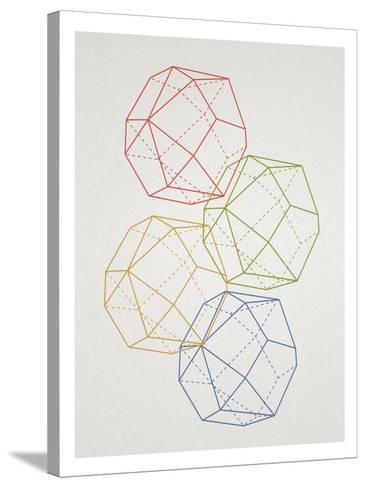 Geometric Pop Art--Stretched Canvas Print