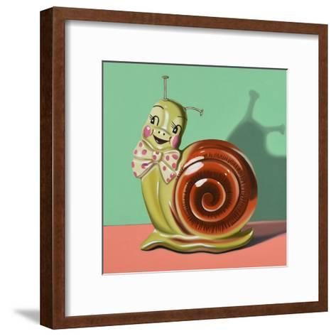 Happy Snail-Cassie Marie Edwards-Framed Art Print